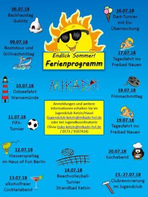 Foto zu Meldung: Sommerferienprogramm im Jugendclub Ketzin/Havel