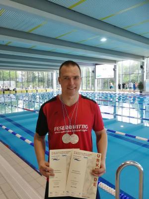 Michael Ritter nach seinem erfolgreichen Wettkampf im Europabad Wetzlar.