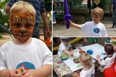 Foto zur Meldung: Kita Fuchsbau: Ein buntes Fest zum Kindertag