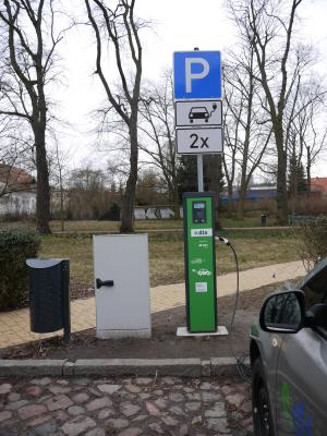 Vorschaubild zur Meldung: Erste Ladesäule für Elektrofahrzeuge in Ketzin/Havel