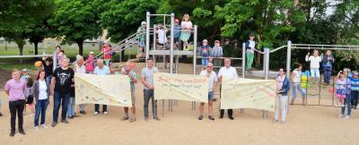 Radler, Kinder & Verwaltung gemeinsam für eine saubere Umwelt | Foto: Stadt Perleberg, 2018