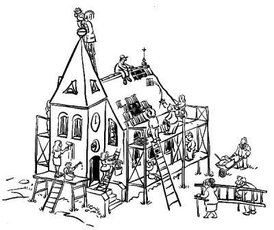 Vorschaubild zur Meldung: Rundgang renovierter Dachstuhl Petrus-Kirche Beimerstetten am 17.06....