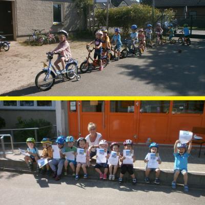 Foto zur Meldung: Laufrad- und Rollerprüfung bei den Schmetterlingen