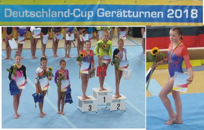 Foto zur Meldung: Leistungsturnerinnen beim Deutschland-Cup erfogreich