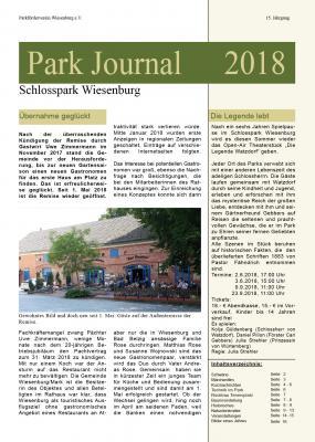 Titelseite des Parkjournals 2018