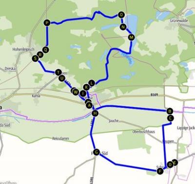Vorschaubild zur Meldung: Radtour durch das Amt Plessa - DER STRECKENVERLAUF