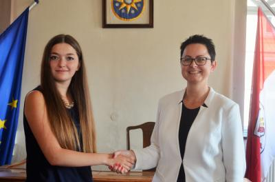 Neue Verwaltungsfachangestellte der Stadt Perleberg ab August 2018, v. l. A. Gebesoy, Annett Jura | Foto: Stadt Perleberg