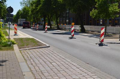 In der André-Pican-Straße gibt es zwei neue Haltestellen.