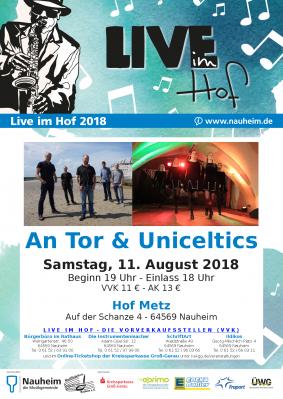 Vorschaubild zur Meldung: Live im Hof: An Tor und Uniceltics