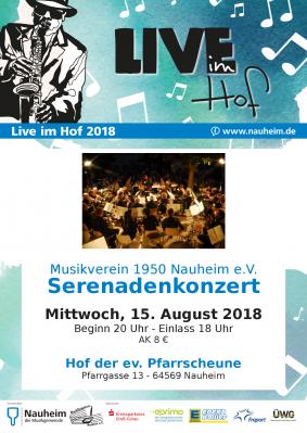 Vorschaubild zur Meldung: Live im Hof: Serenadenkonzert Musikverein Nauheim