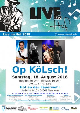 """Vorschaubild zur Meldung: Live im Hof bei der Feuerwehr mit der Band """"Op Kölsch!"""""""