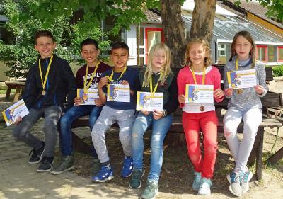 Foto zur Meldung: Schüler der Grundschule am See absolvierten die Radfahrprüfung
