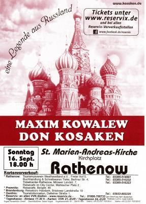 Foto zur Meldung: Maxim Kowalew Don Kosaken - der Vorverkauf hat begonnen