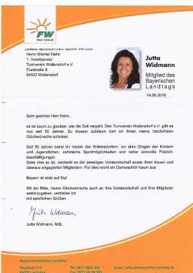 Foto zur Meldung: Dankesworte aus dem Bayerischen Landtag