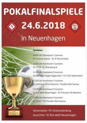 Foto zur Meldung: Fußball: Pokalfinalspiele in Neuenhagen