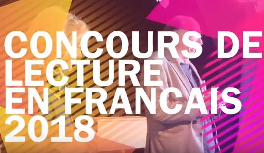 Vorschaubild zur Meldung: Concours de lecture en langue française - 2018