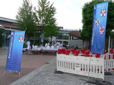 Picknick in Weiß