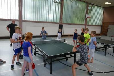 Foto zur Meldung: Tischtennis-Schnupperkurs