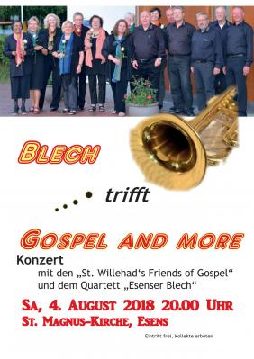 Vorschaubild zur Meldung: Konzert vom Chor St. Willehad's Friends of Gospel am Sonnabend, den 4. August 2018, 20 Uhr in der St. Magnus-Kirche Esens.