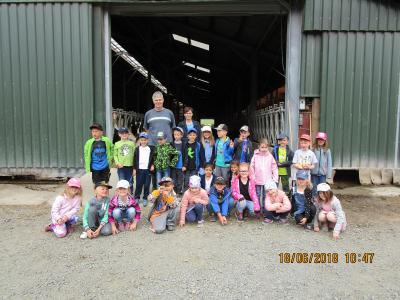Foto zur Meldung: Besuch auf dem Bauernhof