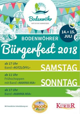 Bodenwöhrer Bürgerfest 2018