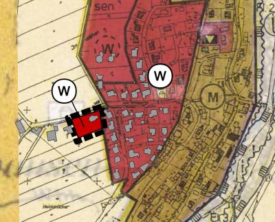 Geltungsbereich der 35. Änderung des Flächennutzungsplanes (Abbildung unmaßstäblich, genordet)