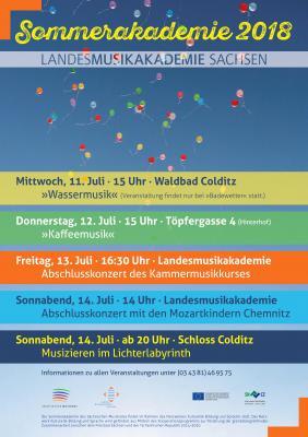 Veranstaltungen der Sommerakademie im Juli 2018