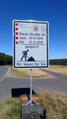 Vorschaubild zur Meldung: Sperrung der L 3087 von Roda nach Ernsthausen
