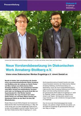 Vorschaubild zur Meldung: Neue Vorstandsbesetzung im Diakonischen Werk Annaberg-Stollberg e.V.