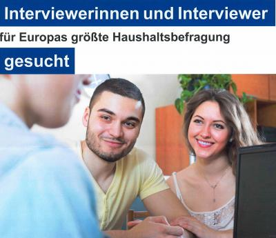 Vorschaubild zur Meldung: Interviewerinnen und Interviewer gesucht!