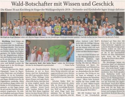 Auszug Der Bayerwald Bote 11.07.2018