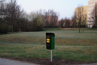 Hundetoilette in der Grünen Mitte