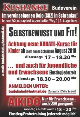 Vorschaubild zur Meldung: Neue Karate-Anfänger-Kurse