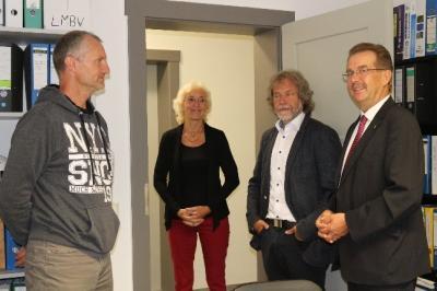 Foto zur Meldung: Umzug des Calauer Bauamtes perfekt - Landkreis begrüßt neuen Mieter