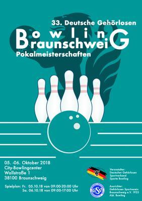 Vorschaubild zur Meldung: Deutsche Gehörlosen Bowling Pokalmeisterschaften 2018 in Braunschweig