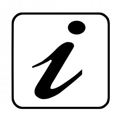 Infosymbol weiß