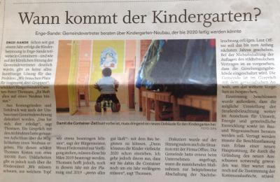 """Vorschaubild zur Meldung: """"Wann kommt der Kindergarten?"""""""