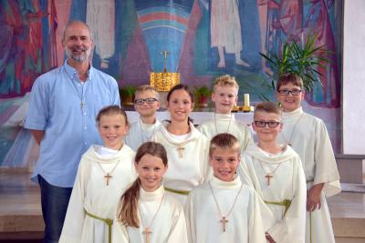 Foto zu Meldung: Neue Ministranten in der Pfarrei St. Anna Schondra