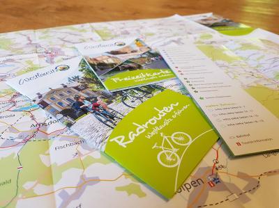 Vorschaubild zur Meldung: Neue Radbroschüre, Freizeitkarte und Flyer ab sofort erhältlich
