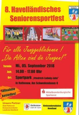 Foto zur Meldung: Kreissportbund Havelland lädt zum 8. Havelländischen Seniorensportfest nach Rathenow