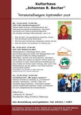 Foto zur Meldung: Veranstaltungen September