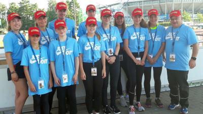 Foto zur Meldung: Laager Sportler unterstützten die Deutschen Jugendmeisterschaften in Rostock