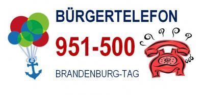 Vorschaubild zur Meldung: Das Bürgertelefon zum BRANDENBURG-TAG: 951 500