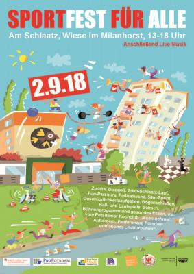 """Foto zur Meldung: Plakatpremiere """"Sportfest für Alle"""""""
