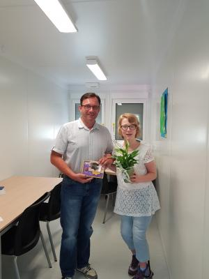 Marie Wickles und Erster Bürgermeister Gerd Hofmann