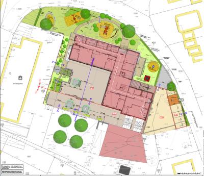 Vorschaubild zur Meldung: Aktueller Plan Außenanlage Kindertagesstätte