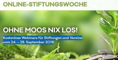 Foto zur Meldung: Ohne Moos nix los! Kostenlose Webinare für Stiftungen und Vereine
