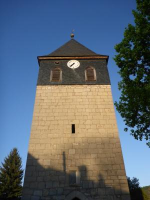 Kirchturm Kirche Dosdorf © Stiftung FLEDERMAUS
