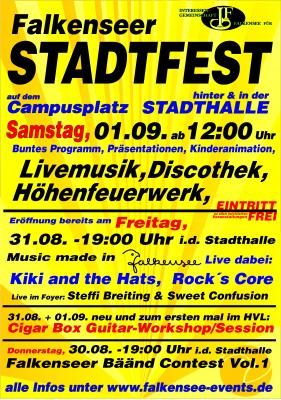 Abwechslungsreiches Programm beim Falkenseer Stadtfest 2018