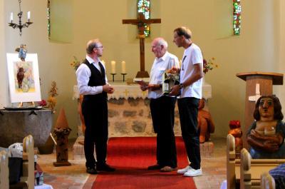 Lothar Sell Hohenwerbig Dankeschön an Roland und Jens Sell